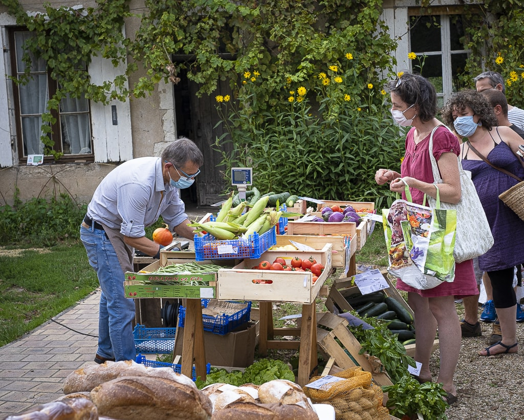 Photo de la vente de légumes